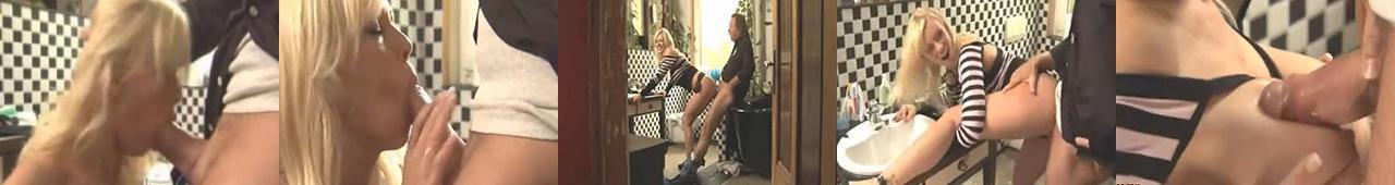 Blond sexbomba Vivian Schmitt w gorącej akcji