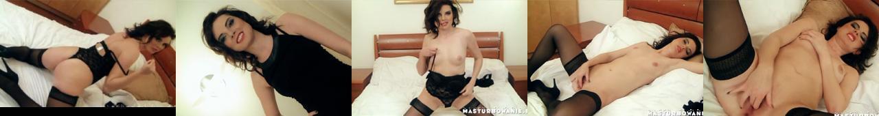 Masturbowanie e48 - Andżelika, Czarna pantera na łóżku