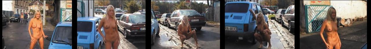 SZOK! Rozebrała się na ulicy!