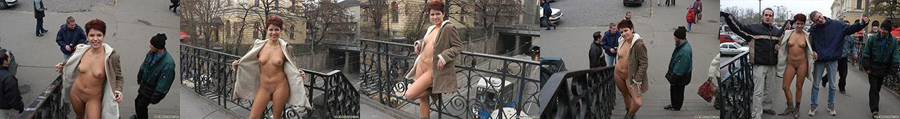 Sabina rozbiera się na ulicy